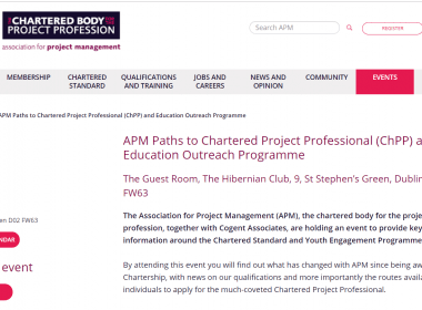 APM Path to Chartered Project Professional (ChPP) and Education Outreach Programme